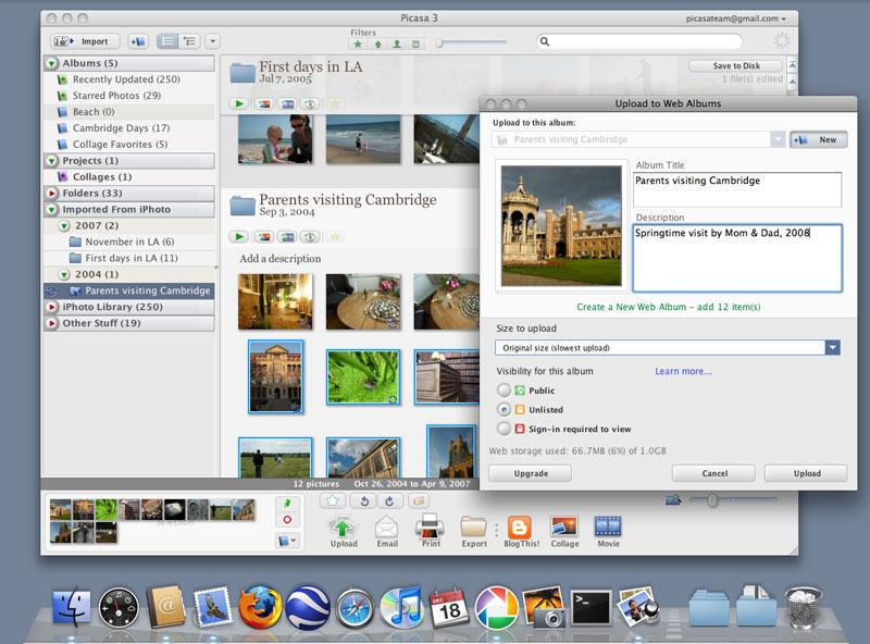 Google releases Picasa for Mac