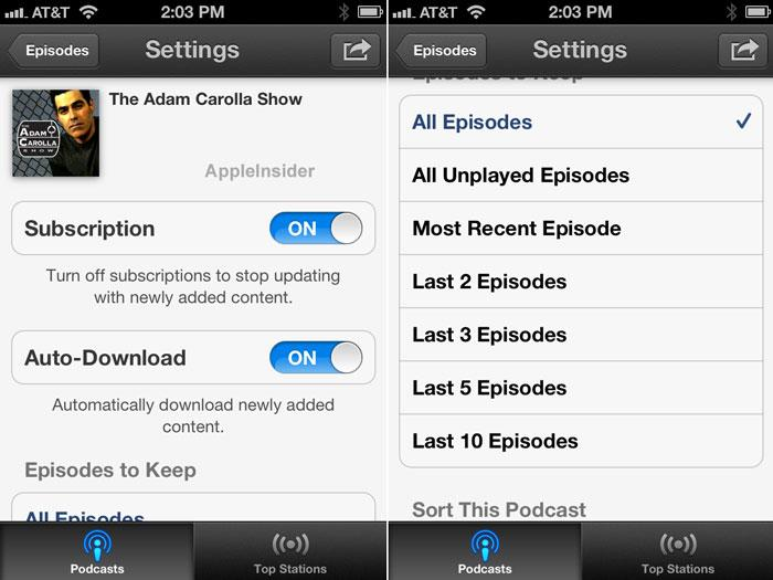 First look: Apple's Podcasts for iOS offers subscriptions, auto