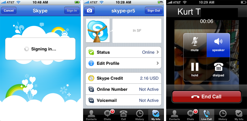 skype app for iphone skype for iphone to hit the app on tuesday released 6921