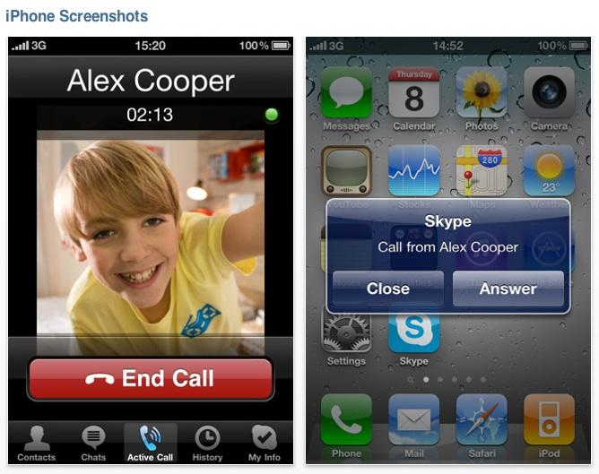 Skype for iPhone video calling now available