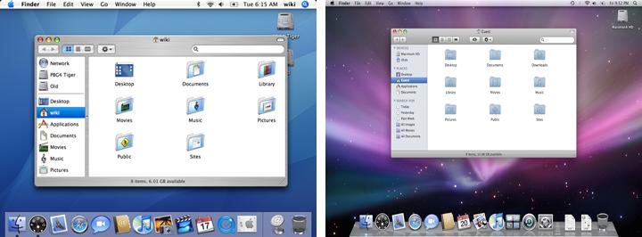 OS X Tiger, Leopard