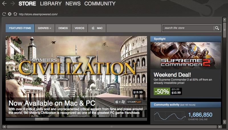 Steam survey finds more than 8% of gamers use Apple's Mac OS X
