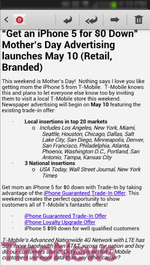 T-Mobile to tout '$0 Down' iPhone 5 trade-in deal for