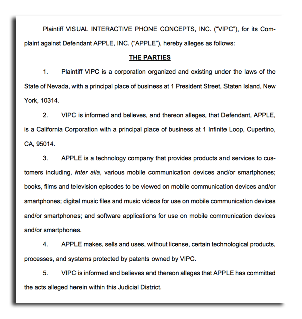 Videophone patent owner accuses Apple of infringement with