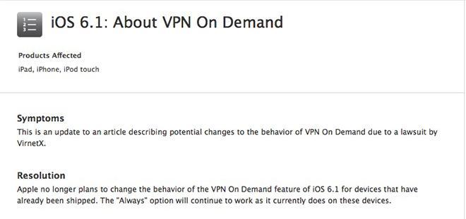 Apple changes plans on VPN On Demand behavior, 'Always