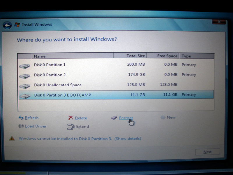 how can i install windows 7 on a mac pro without os x or bootcamp