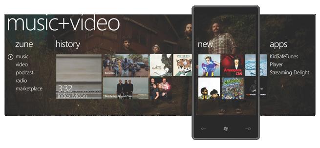 Windows Phone 7 Series Music + Video