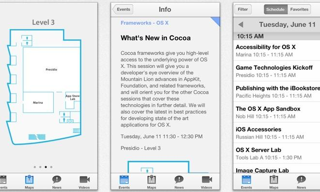 Apple's official WWDC 2013 iOS app now available